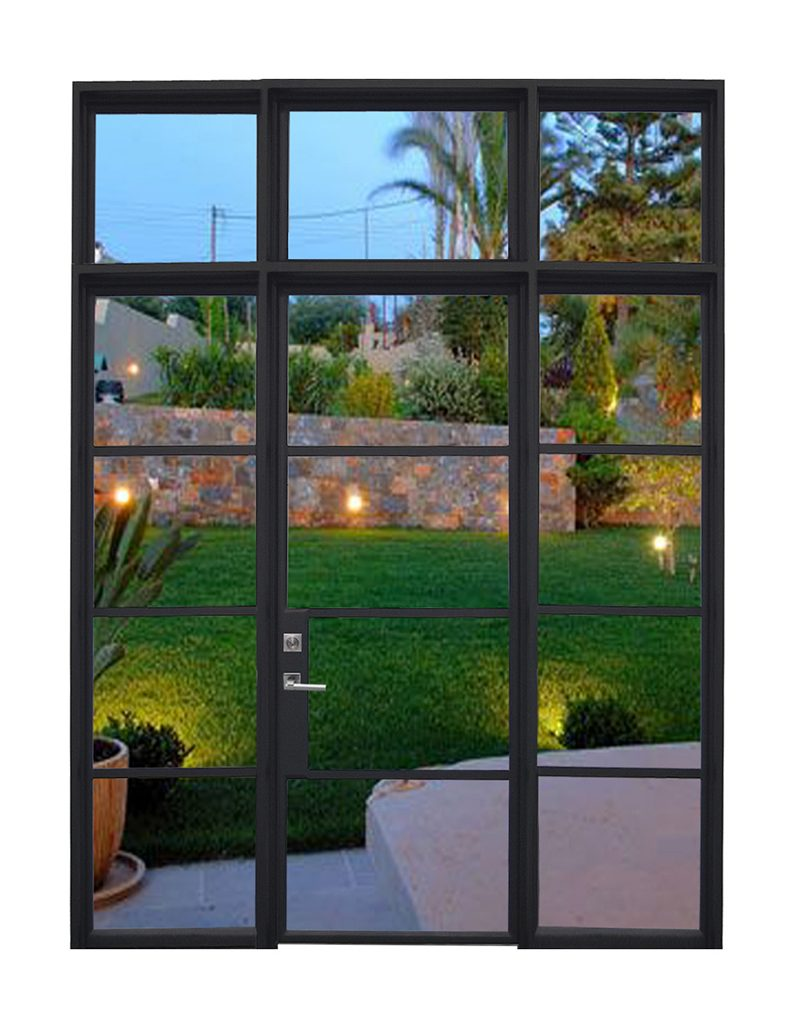 Modern Line - Single door with Transom - Sidelights