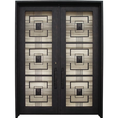 DCY - Double Contemporary Door Iron Works