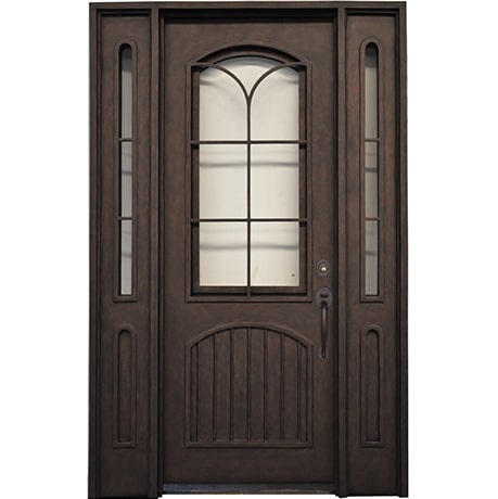 STY - Single Door with Transom Iron Works