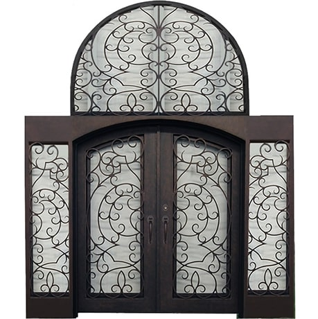 DTY - Double Door with Transom Iron Works